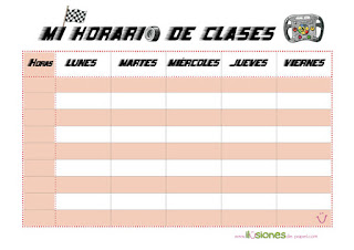 horario escolar de autos de carreras