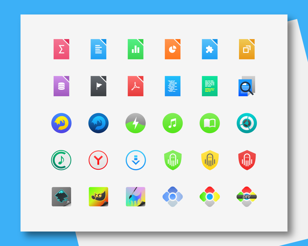 Yosa Max 1 8 Icon Themes For Ubuntu, Linux Mint, Debian and