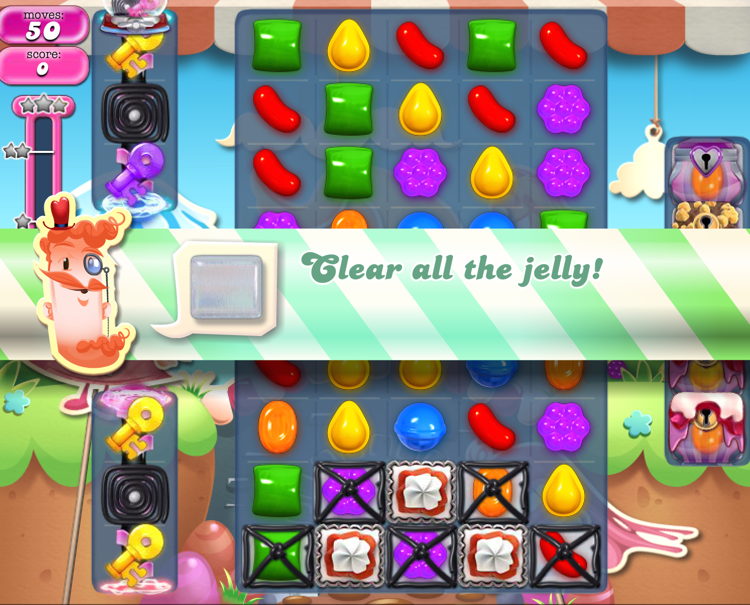 how to clear candy crush jelly level 109
