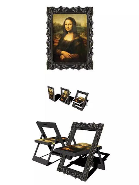 Lukisan yang bisa menjadi sebuah kursi