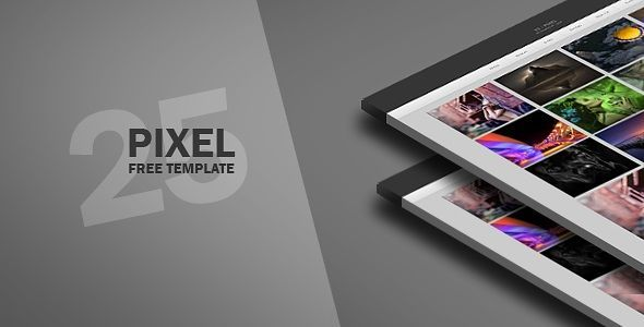 25 pixel - Gallery Blogger Template - Photography Blog
