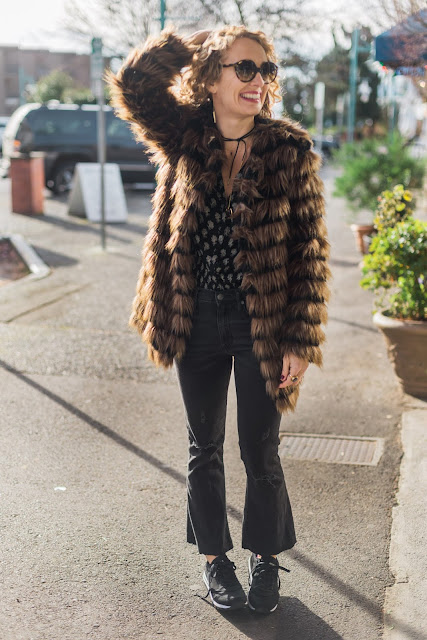 how to style sneakers and fur