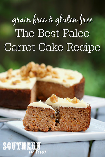 The Best Healthy Paleo Carrot Cake Recipe – clean eating recipe, healthy, low carb, dairy free, soy free, sugar free, gluten free, grain free, paleo Easter