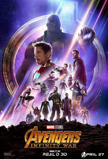 Marvel's Avengers: Infinity War RealD 3D Theatrical One Sheet Movie Poster
