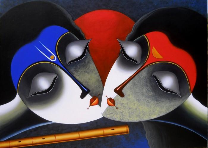 Индийский художник. Santosh Chattopadhyay 7