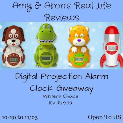 Enter the Digital Projection Alarm Clock Giveaway. Ends 11/3