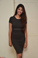 Priya Vadlamani super cute in tight brown dress at Stone Media Films production No 1 movie announcement 006.jpg