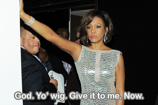 Whitney's wig passes onto the other side | Whitney Houston