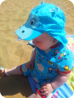 me and i, baby at beach, ten month old baby boy, funky boys clothes