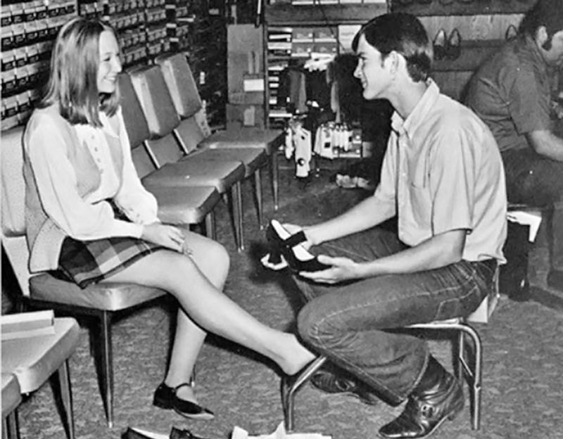 685cbbcd3f0 Vintage Photos of Women Shopping for Shoe, and the Humble Salesmen ...