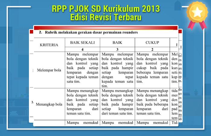RPP PJOK SD Kurikulum 2013
