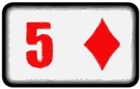five of diamonds playing card