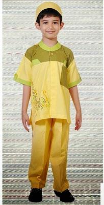 Baju Muslim Anak-Anak Warna Kuning