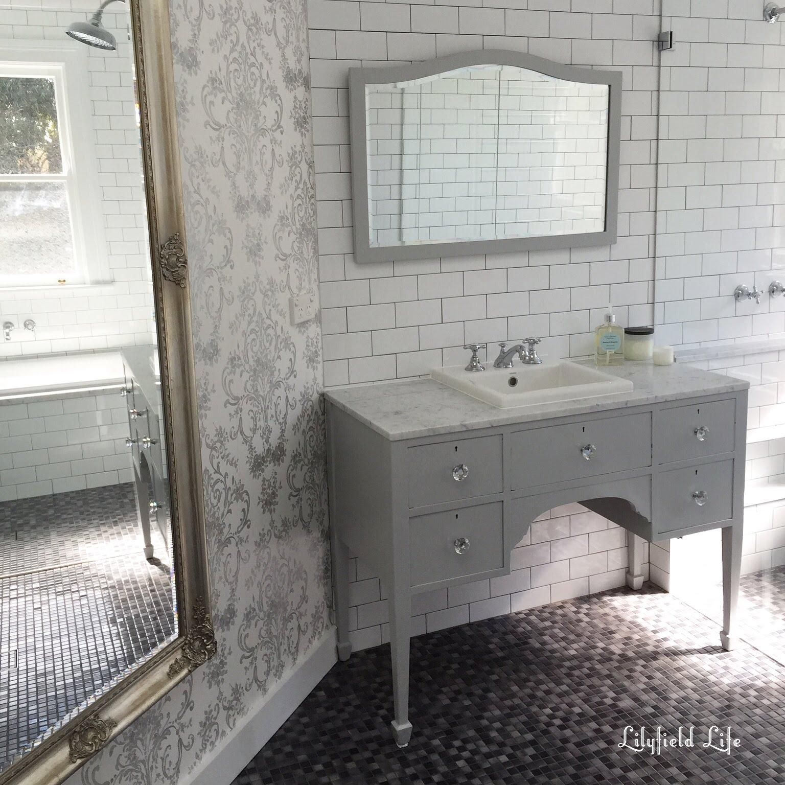 Vintage Furniture To Bathroom Vanity