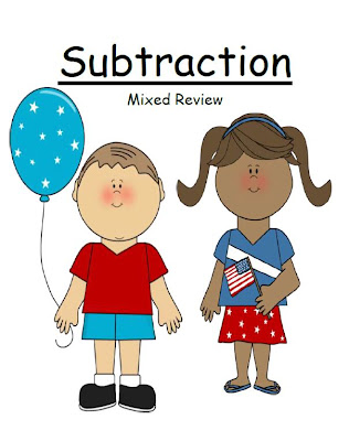 Fern Smith's Classroom Ideas Subtraction Red, White and Blue Mixed Review & A Freebie!