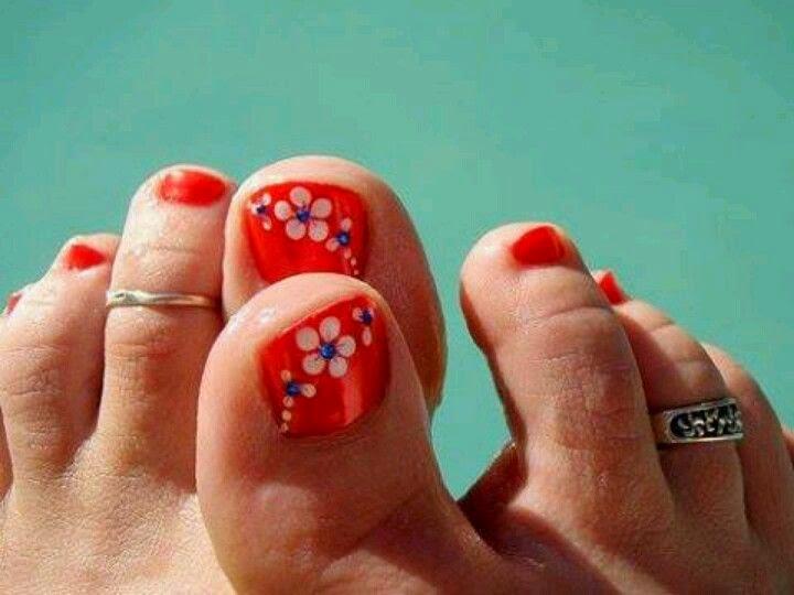 Uñas decoradas, imagenes con diseños, modelos lindos de pies y manos