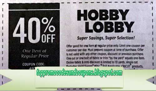 Free Promo Codes and Coupons 2019: Hobby Lobby Coupon