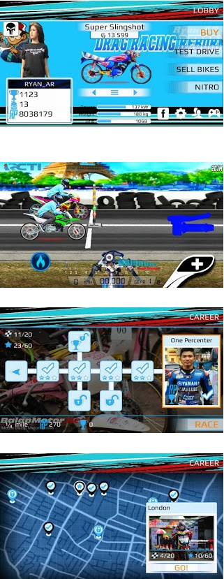 Drag Racing Bike Edition MOD Indonesia