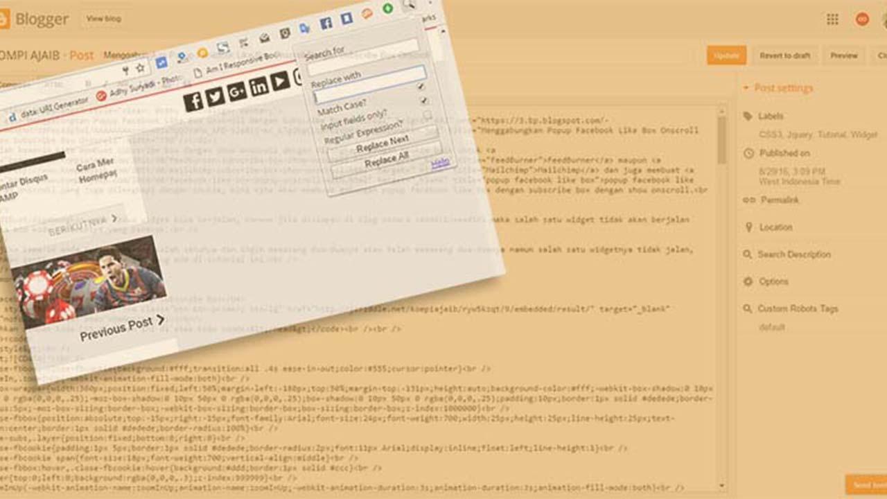 Cara Mudah Mengedit Postingan Blog AMP