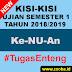 Kisi Ke-NU-an UAS Gasal 2018/2019 SMK Nusantara 1 Comal