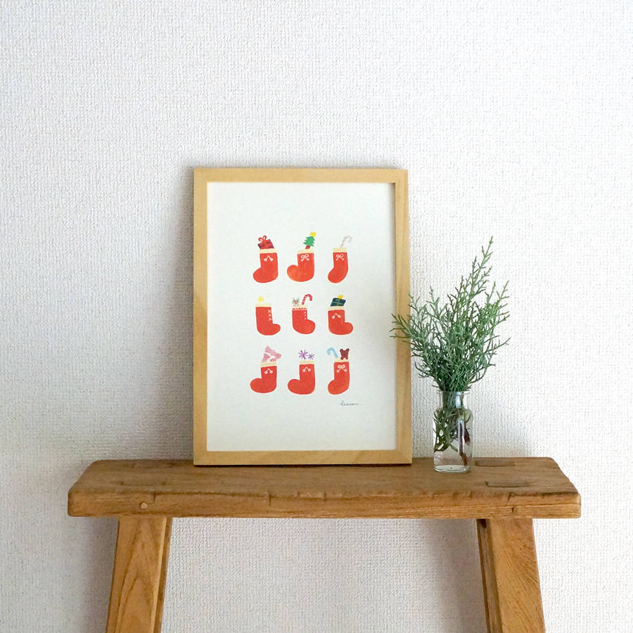 「christmas gift」イラストA4ポスターもあります★