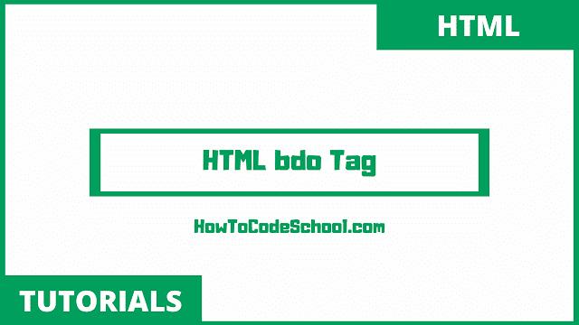 HTML bdo Tag