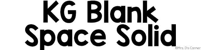 https://www.teacherspayteachers.com/Product/KG-Blank-Space-Font-Personal-Use-1533769