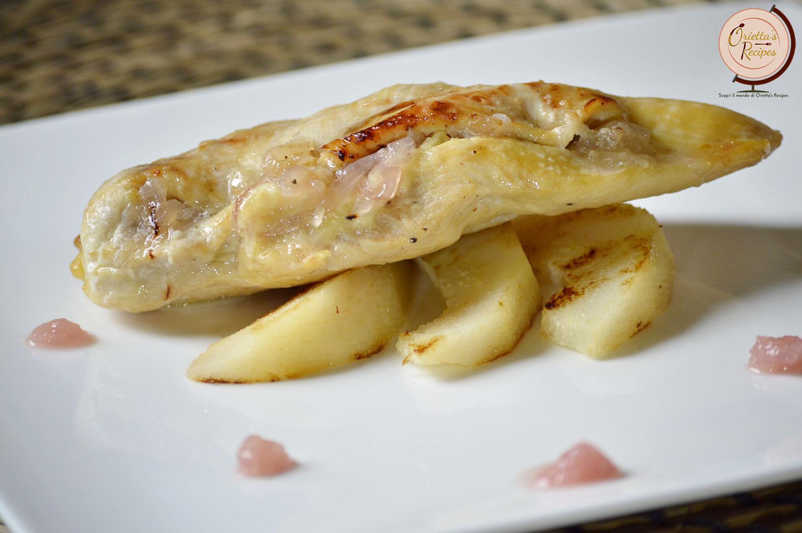 Oriettas Recipes Petto Di Pollo Farcito Con Pecorino Fior Di