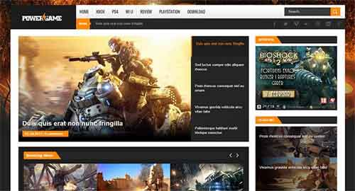 Power Game Responsive Blogger Template