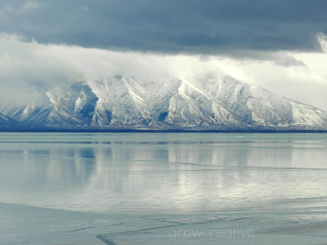 Frozen Utah Lake: grow creative blog