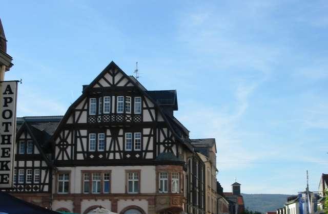 Bad Homburg Fachwerkhaus Fußgängerzone Richtung Taunus/Altstadt