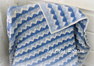 Ocean Waves Afghan Pattern, $3.49