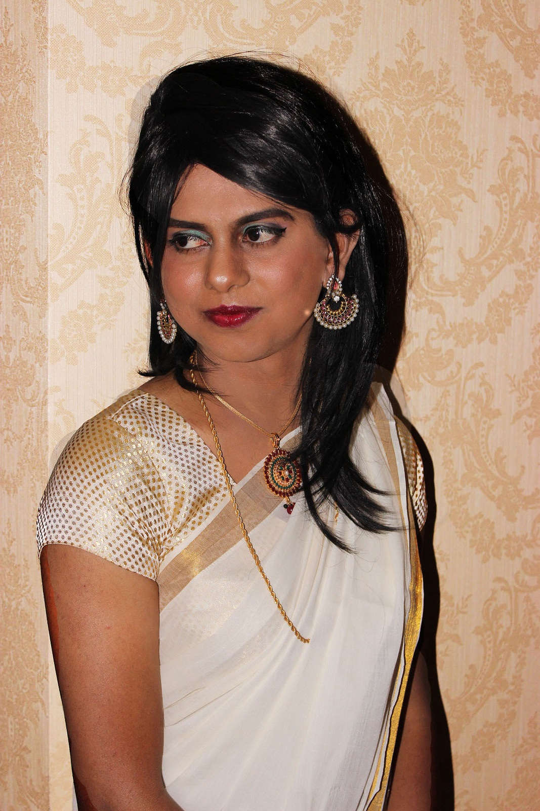 Boy To Girl Transformation  Desi Indian Crossdresser -5495