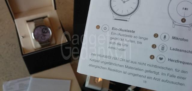 Die Huawei Watch ist aus nicht  nichttoxischen Materialien gefertigt.
