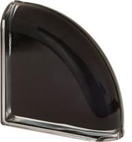 brique en verre finition noir
