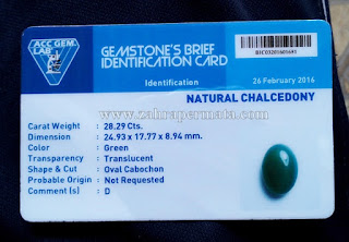 Batu Green Chalcedony+Memo - ZP 679