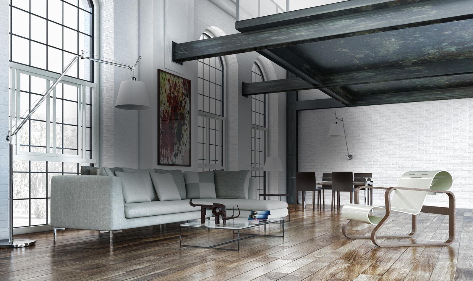trend na loft. Black Bedroom Furniture Sets. Home Design Ideas