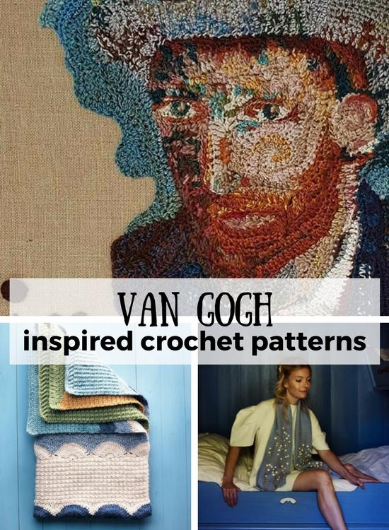 Van Gogh inspired crochet   Happy in Red