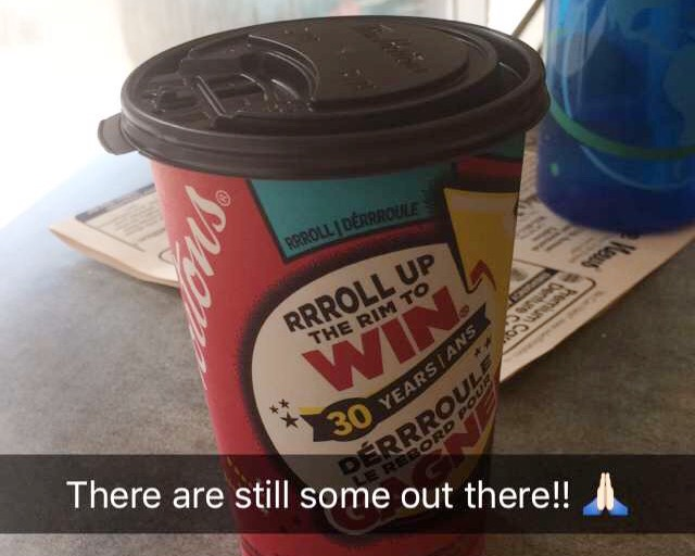 Tim Horton's Roll up the Rim