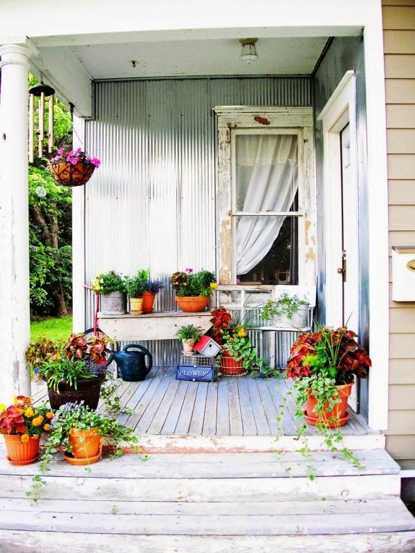 Terrazas y patios de estilo \