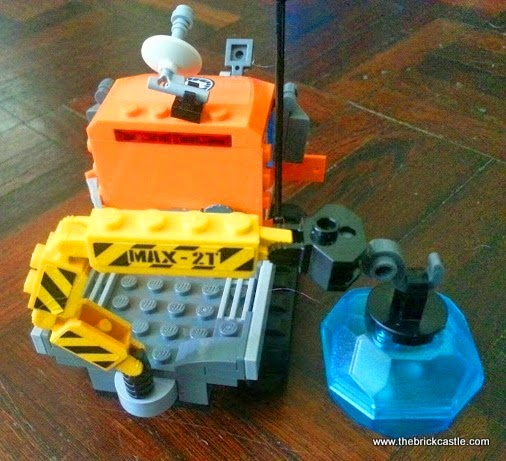 LEGO City Arctic Ice Crawler 60033 Review vehicle crane with heavy duty hook overhead view
