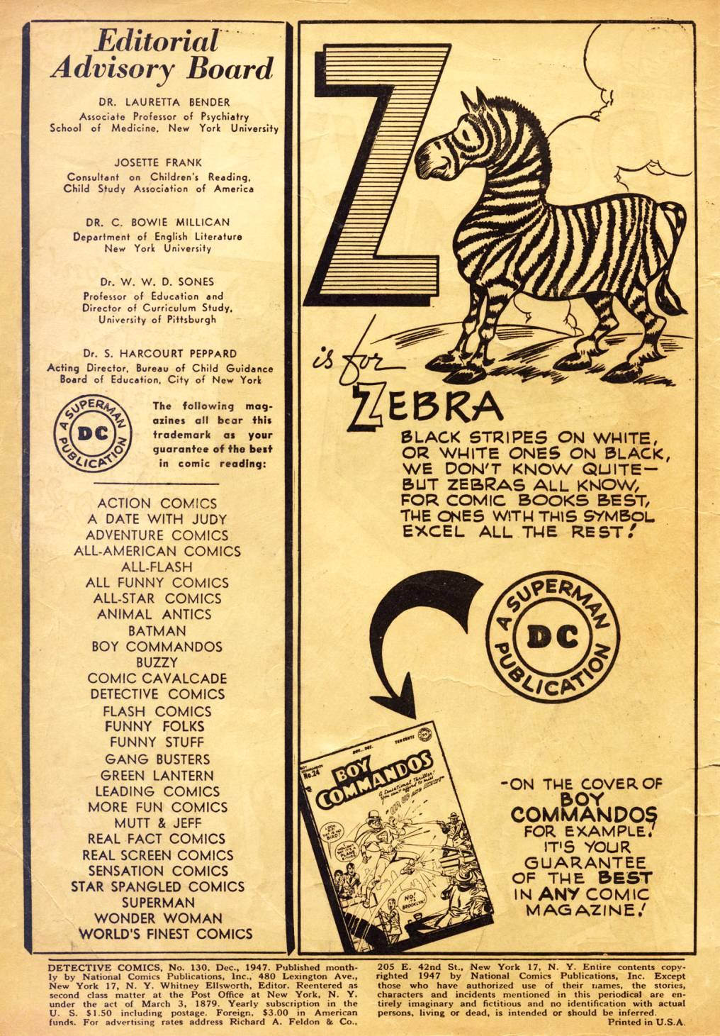 Detective Comics (1937) 130 Page 1