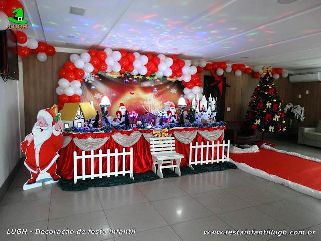 Natal - Decoração tradicional luxo com árvore de Natal