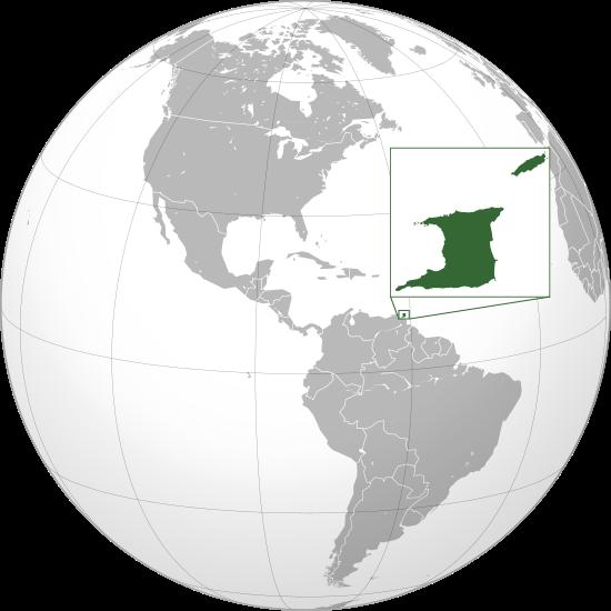 Letak negara Trinidad dan Tobago