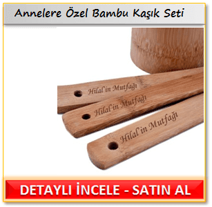 Annelere Özel Bambu Kaşık Seti