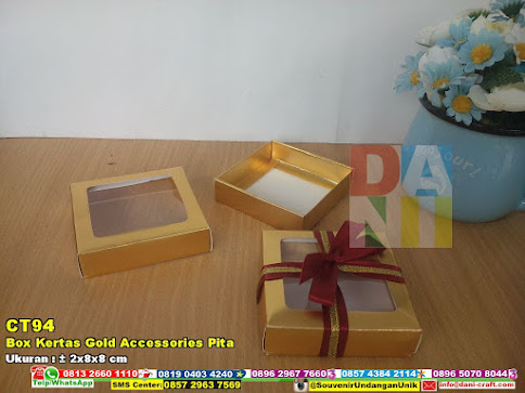 Box Kertas Gold Accessories Pita