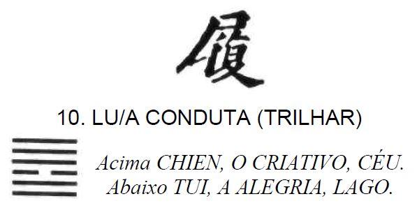 Imagem de Lu / A Conduta (Trilhar), primeiro dos 64 hexagramas do I Ching, o Livro das Mutações