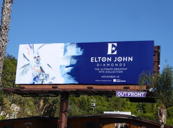 Elton John Diamonds album billboard
