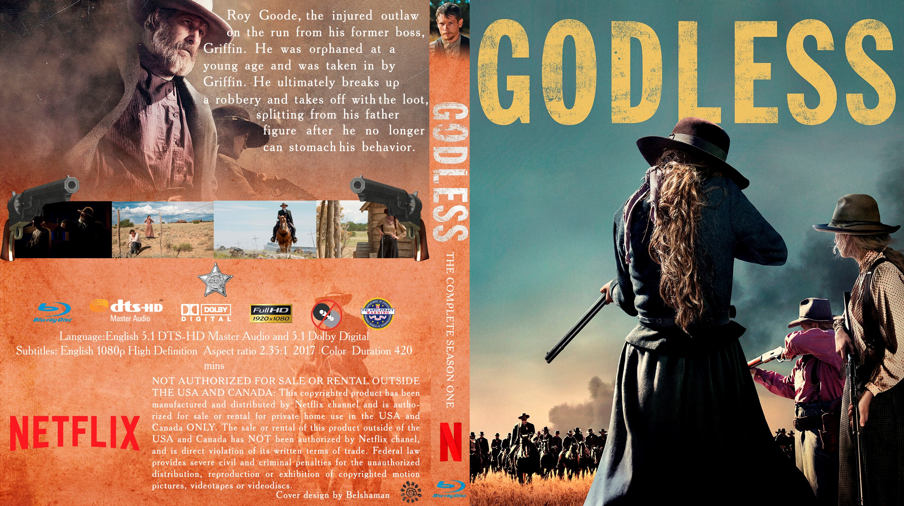 Godless Bluray Cover  Cover Addict  DVD and Bluray Covers