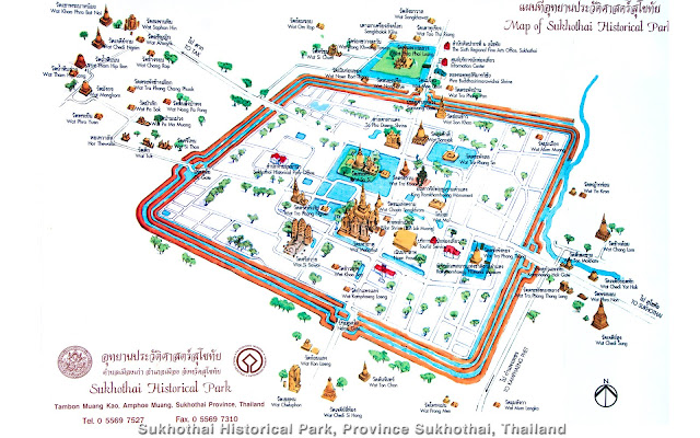 sukhothai mapa